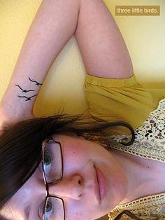 3 little birds tattoo. (inspiration)