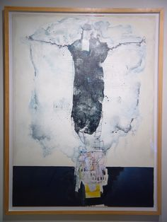 """Untitled"" paraffin, oil, collage, graphite on paper, 41 x 54"" $5,500"
