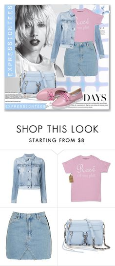 """""""expressiontees"""" by expressiontees ❤ liked on Polyvore featuring 3x1, Topshop and Rebecca Minkoff"""