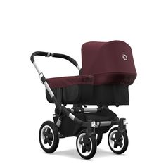 Free shipping and no sales tax on the Bugaboo Donkey2 Stroller in red melange from Strolleria.