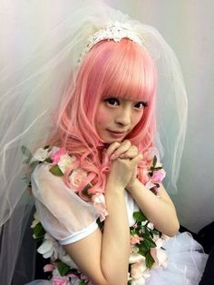 Kyary Pamyu Pamyu in this wedding gown looking outfit Tokyo Fashion, Harajuku Fashion, Japanese Fashion, Korean Fashion, Kyary Pamyu Pamyu, Pastel Party, Pastel Goth Fashion, Gothic Lolita, Alternative Fashion