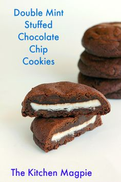 Chocolate Chip Cookie Recipe: Double mint chocolate chip cookies !  @Matty Chuah Kitchen Magpie : Karlynn Johnston #chocolatechipcookierecipe #cookies #recipes