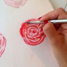 how to paint water color peony