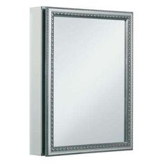 KOHLER 20 inch x 26 inch Aluminum Bathroom Medicine Cabinet with Decorative Silver Framed Mirror Door; Recess or Surface Mount ** Learn more by visiting the image link. (This is an affiliate link) Surface Mount Medicine Cabinet, Medicine Cabinets, Mirror Kit, Mirror Door, Wood Picture Frames, Picture On Wood, Silver Framed Mirror, Tempered Glass Shelves, Houses