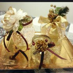 Christmas decoratios portacandele