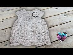 Robe point vagues relief crochet toutes tailles - YouTube