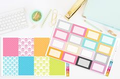 Pretty Arrows Full Box and Half Box Planner Stickers by TheCleverDesign on Etsy