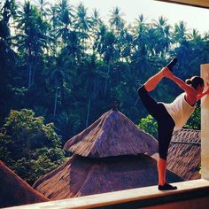 Kate, a client at The Bar Method Dallas, shows off her Bar Method moves in Bali. Gorgeous! #WhereDoYouBar?