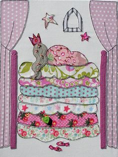 Princess and the Pea Applique by 23BeechHill, via Flickr