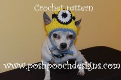 I AM SO GONNA MAKE ONE OF THESE FOR OUR MINI~PIN, BATMAN!!  HE LOVES TO GET DRESSED UP!!! Posh Pooch Designs (lots of free doggie crochet patterns!)