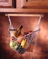 Under Cabinet Fruit & Veggie Hammock - Prodyne Enterprises - Space Savers - Camping World Would love one of these for the camper Kombi Motorhome, Rv Campers, Camper Trailers, Happy Campers, Travel Trailers, Travel Trailer Living, Caravan Living, Small Campers, Rv Trailer