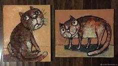 Миниатюрные картинки маслом «котята» – купить на Ярмарке Мастеров – HARM5RU   Картины, Архангельск Cat Art, Moose Art, Cats, Animals, Gatos, Animales, Animaux, Animal, Cat