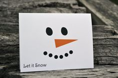 Personalized Christmas Note Cards with Snowman by itsybitsypaper