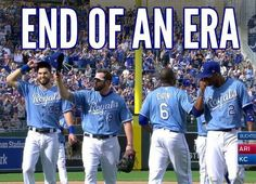KC Royals Core Four all pulled out of their potential last game at the same time October Hosmer, Moose, Cain & Escobar - truly missed. Kc Royals Baseball, Baseball Season, Midwest Girls, Sporting Kansas City, Sports Fanatics, Last Game, Win Or Lose, Love My Boys, Kansas City Royals