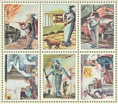 Vintage Stamps - The Life of the Lost In Space Robot (via Frederick Barr modern_fred's Flickr)