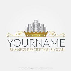 Online Free Logo Maker - Gold City Real Estate logo design