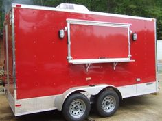 Red Concession Trailer - Advanced Concession Trailers