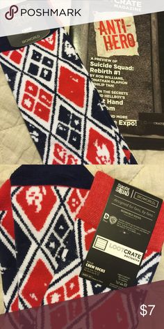 Suicide Squad Harley Quinn Socks NWT Lootcrate Suicide Squad Harley Quinn Socks NWT Lootcrate Exclusive. Brand new. Lootcrate Exclusive Accessories Hosiery & Socks
