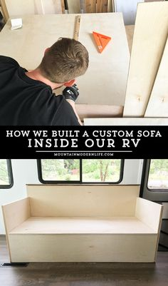 Looking to add custom seating inside your RV or camper? Come see how we created…