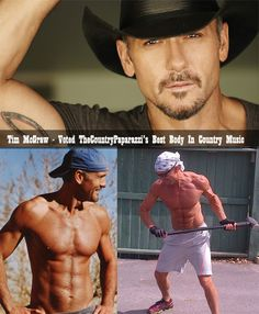 Tim McGraw voted Hottest Body in Country Music...always have had the biggest crush on Tim since I was little, lol