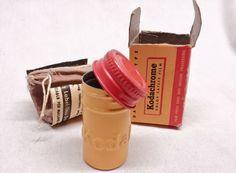 Vintage Kodak Kodachrome Film Tin & Box // Camera