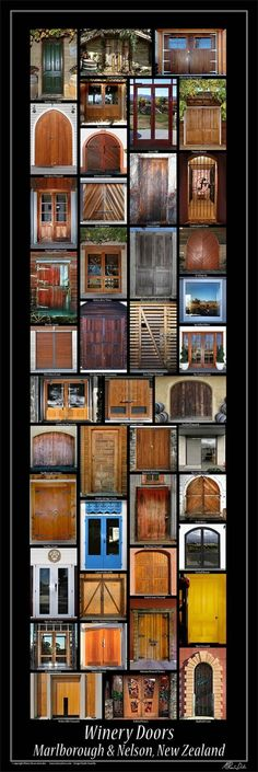 This poster is of Marlborough & Nelson winery/cellar doors, original photography & poster by Renee Dale.