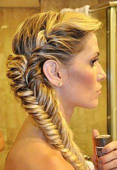 Fish tailbone hair style