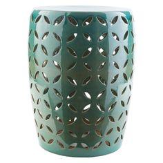 Outdoor Surya Chantilly Ceramic Stool