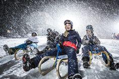 Nachtrodeln im Pitztal #DachTirols Die Allgäuerin, Mount Everest, Winter Jackets, Mountains, Mai, Night, September, Ride Along, Ski Resorts