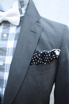 Plaid and polka dots. Mens Vintage Haspel Preppy Grey Suit by ViVifyVintage