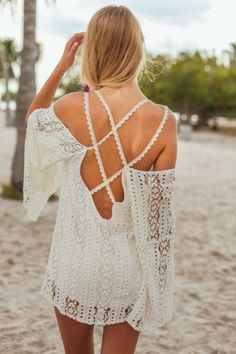 Backless Mini Cover Up   Nic del Mar