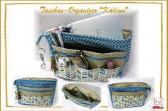 Taschenorganizer - Taschenorganizer *Kalium* Retro - ein Designerstück von dietapfereschneiderin bei DaWanda