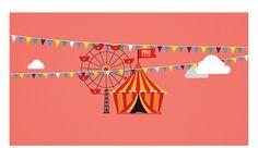Colores demaciado vivos acompañados de formas varias con figuras geométricas básicas.-Happy Hour Kids on Behance