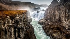 Gullfoss, Iceland 'The Golden Foss' by Wim Denijs