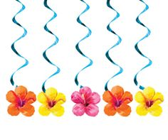 Hibiscus Floral Dizzy Danglers