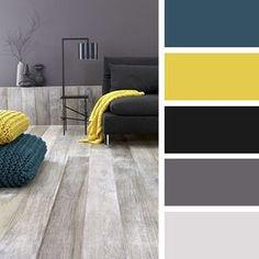 Living room color schemes ideas will help you to add harmonious shades to your home which give variety and feelings of calm, You Need to Try This Year! Kitchen Colour Schemes, Living Room Color Schemes, Kitchen Colors, Kitchen Yellow, Kitchen Grey, Kitchen Ideas, Room Kitchen, Apartment Color Schemes, Kitchen Decor