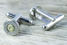 223 Caliber Bullet Cuff Links Wedding Cufflinks (1) One Pair via Etsy