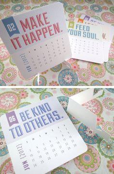 more awesome desk calendar design / $12