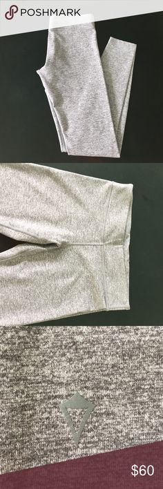 Heather Grey Ivivva Leggings Gently used, heather grey Ivivva leggings. In fantastic condition but gently used! Size 14 in Ivivva (I'm a size 2 in Lululemon and these fit me great). Low waistband. Machine washable. Ivivva Pants Leggings
