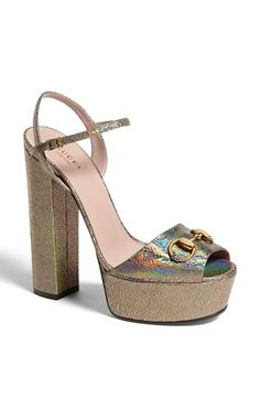 Gucci 'Claudie' Platform Sandal available at #Nordstrom - I want these!