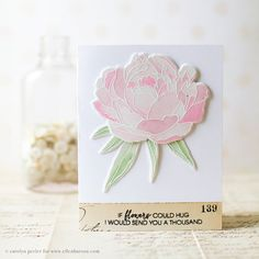 Mondo Peony Card by @carolynpeeler for the #EssentialsbyEllen blog hop…