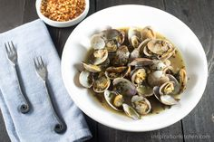Spicy Clams Italiano - can be done with or without the red pepper flakes!
