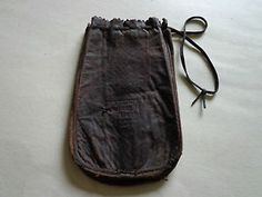 bank pouch   ... Leather Drawstring Money Bag Pouch Greensburg Bank Indiana   eBay