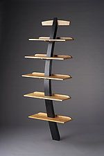 "Recurve by Brian Hubel (Wood Shelf) (82"" x 36"")"
