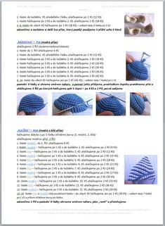 Pat a Mat | Návody na háčkované hračky Diy Crafts Crochet, Crochet Gifts, Crochet Doilies, Crochet Mouse, Crochet Baby, Free Crochet, Crochet Bear Patterns, How To Make Toys, Cat Pattern