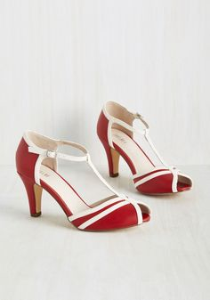 crimson red peep toe heels