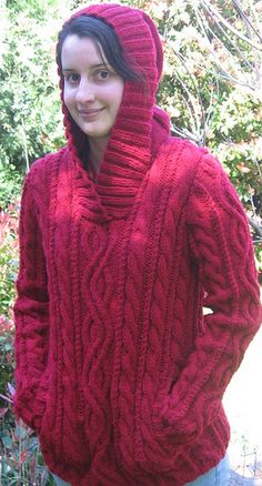 Ravelry: Cabled Pullover with Hood pattern by Patons Hood Pattern, Drops Design, Cute Crafts, Hand Knitting, Ravelry, Hoods, Knit Crochet, Cable, Turtle Neck