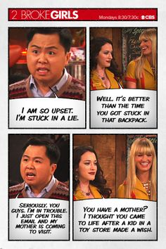 Hans gets himself into trouble ~ 2 Broke Girls ~ Season 3: And The Girlfriend Experience ~ Quotes