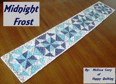 Beautiful tablerunner. Make it in any color set.  Tutorial!