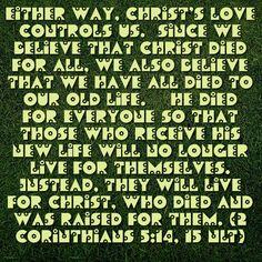 Verse of the day!!! Bible Verse: 2 Corinthians 5:14-15